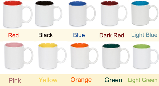 Inside Colored Ceramic Sublimation Mug