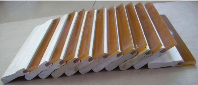 High Quality Silk Screen Printing Wood Squeegee Ink Scraper 75 Durometer - 6 In.