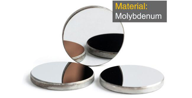Mo 10.6μm CO2 Laser Reflection Mirrors for Engraving and Cutting, Dia. 25 x 3mm