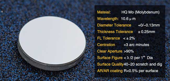 Mo 10.6μm CO2 Laser Reflection Mirrors for Engraving and Cutting, Dia. 20 x3mm