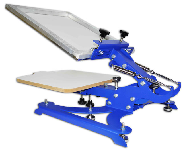 Brandnew 1 color 1 station screen printing machine diy t for Single shirt screen printing