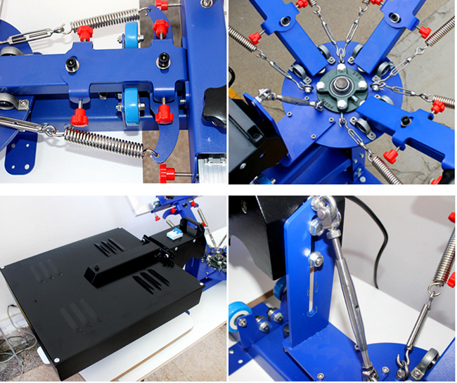 Micro-adjust 3 Color 1 Station with Dryer Screen Printing Press Machine Printer Equipment