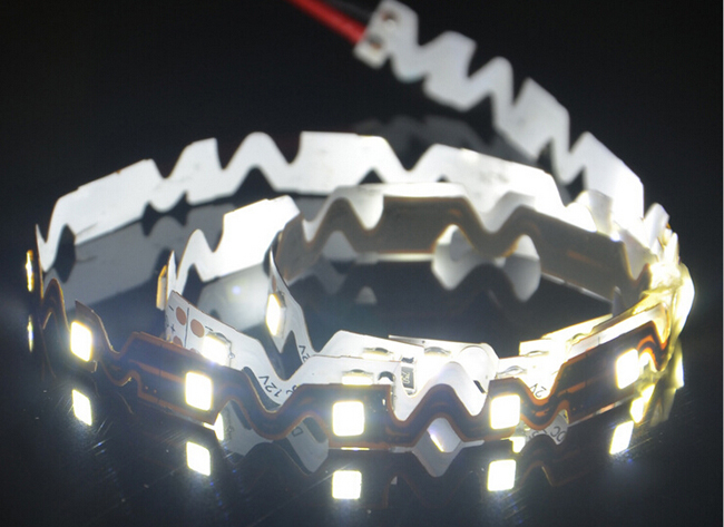 Ving UL 16.4FT 2835 Flexible Waterproof LED Strip Bendable S Type 5M SMD 300 LEDS NP 12V for Resin Letter