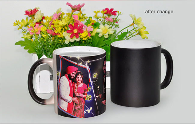 US Stock-11OZ Blank Sublimation Color Changing Mugs, Magic Cup, Full Color Changing(Black/Glossy)