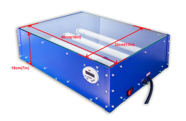 110V / 220V 60W 18 x 12in UV Exposure Unit Screen Printing Plate Making Silk Screening DIY