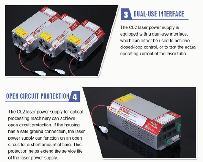 EFR F6, F8, F10, ZS1650, ZS1850 CO2 Laser Tubes Power Supply / Power Source with PFC Function, 90V-250V