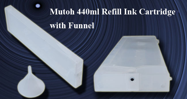 Generic Mutoh 440ml Refill Ink Cartridge with Funnel