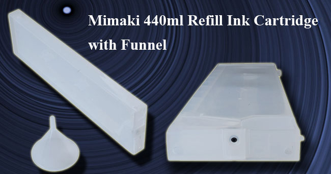 Generic Mimaki 440ml Refill Ink Cartridge with Funnel