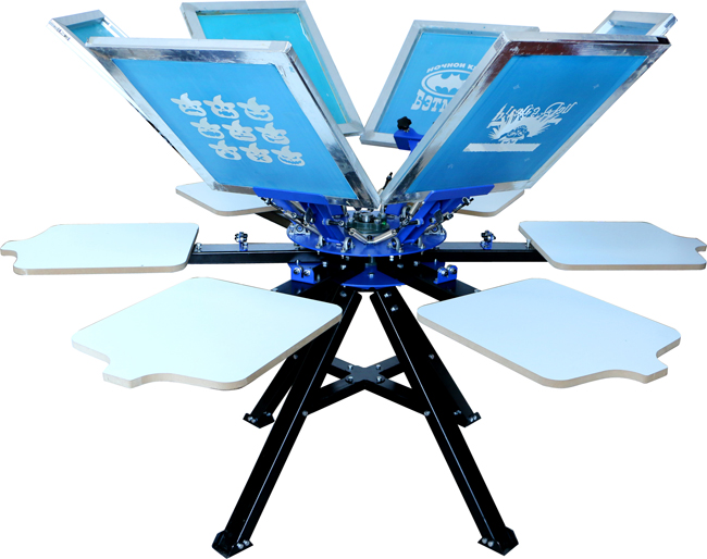 Details about USA 6 Color Screen Printing Press 6 Station Printer Double  Rotary Print Machine