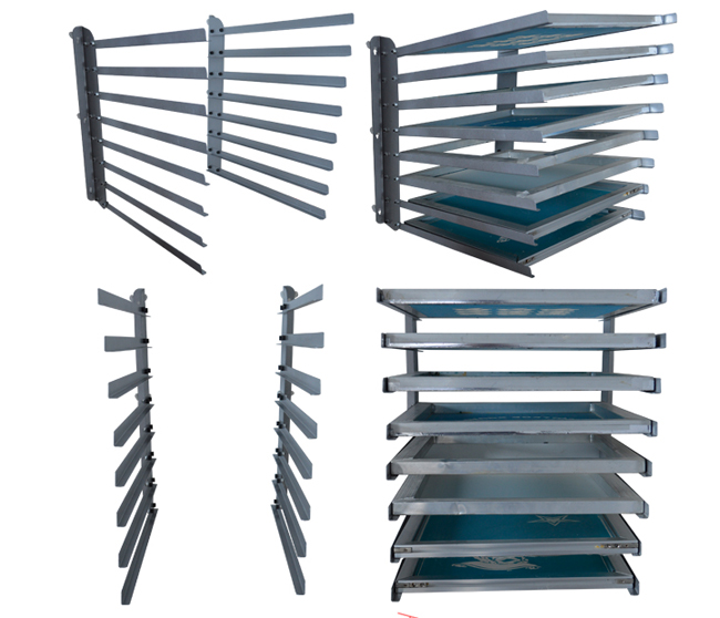 Wall Fixed 8 Layers Screen Printing Shop Rack
