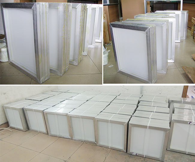 Aluminum Screen Printing Screens With 160 White Mesh Count