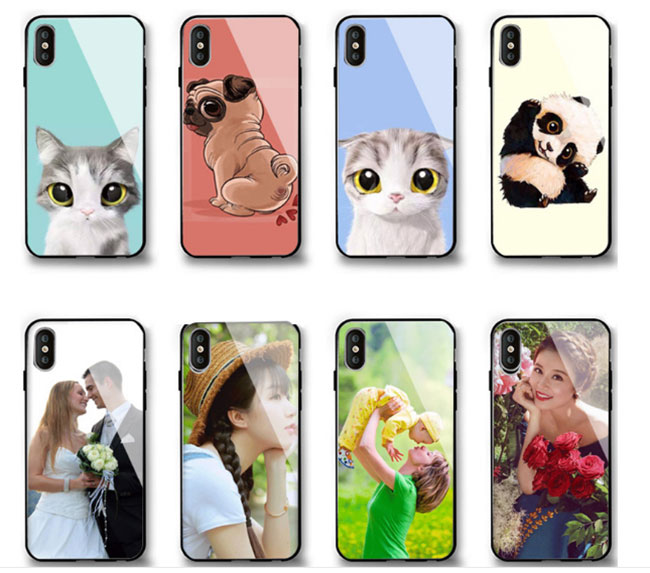 Tempered Glass Material iPhone X Blank Cell Phone Case Cover for UV Printing
