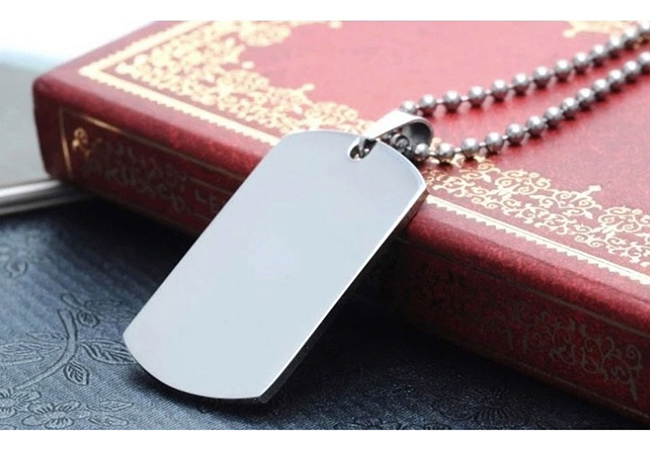 US High Quality Army Stainless Steel Military Blank Dog Tags Engraving Blanks