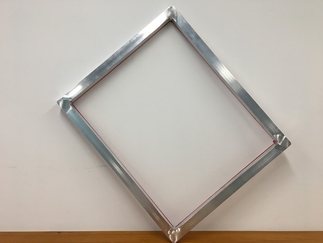 Aluminum Frame With 130 White Mesh Silk Screen Printing Screens