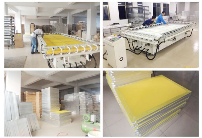 Aluminum Screen Printing Screens with 230 Yellow Mesh Count