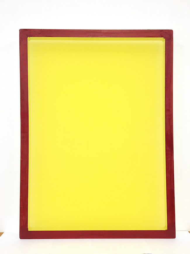 Aluminum Screen Printing Screens with 280 Yellow Mesh Coun