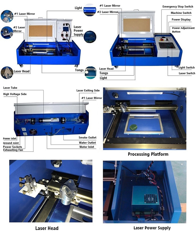CO2 Laser Engraver and Cutter Worktable FDA