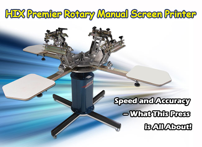 Station Premier Rotary Manual Screen Printer