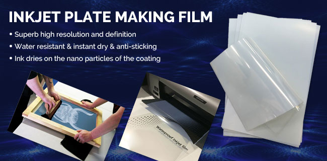 Inkjet plate making film