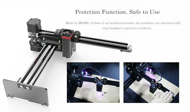 20W Desktop Laser Engraving Machine with APP Control