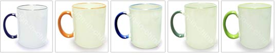 11OZ Sublimaiton Superfine Mug With Colored Rim