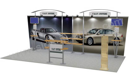 10×20(feet) Fast Exhibit kit Trade Show Display