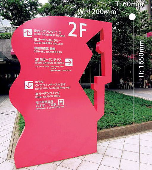 Directional signboard 008
