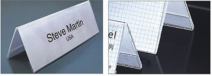 V-Shaped Desk Label 7.9