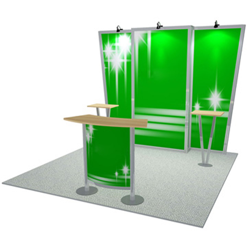10×10(feet) Fast Exhibit Kit Display Booth Stand
