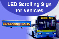 LED Scrolling Sign for Vehicles