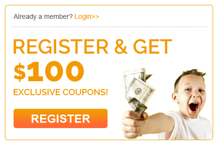 Register & Get $100 Exclusive Coupons!